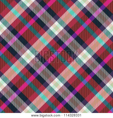 Abstract checked modern seamless oblique pattern with textile texture