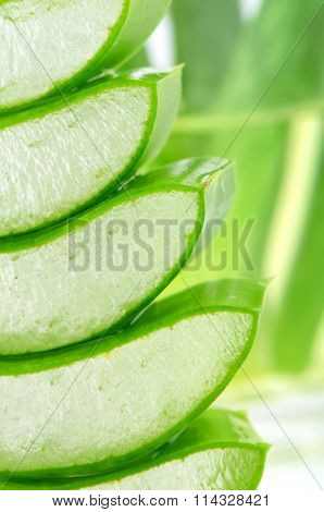 Stack Of Slice Aloe Vera.
