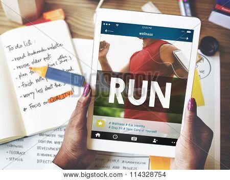 Run Runner Athleic Exercise Health Jogging Speed Rush Concept