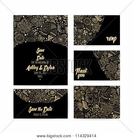 Wedding Invitation template save the date invitation