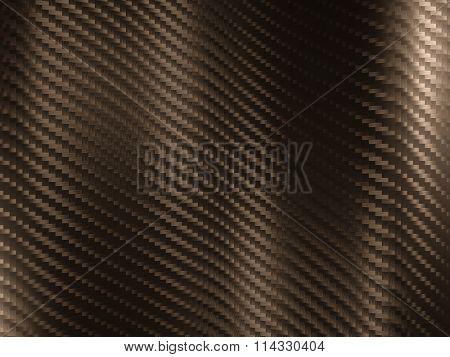 3d image of golden carbon fiber texture