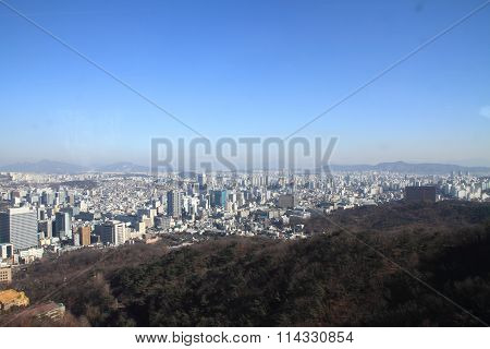 Cityscape of Seoul city, Republic of Korea