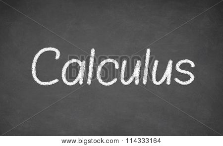 Calculus lesson on blackboard or chalkboard.