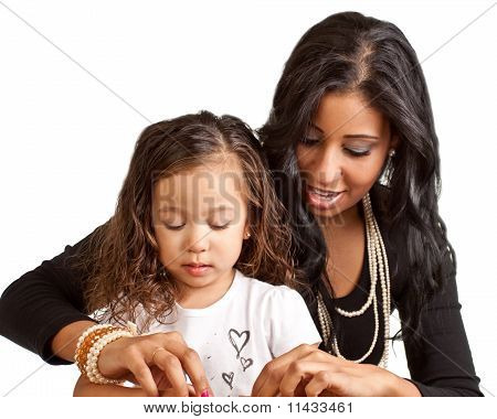Mother Mentoring Daughter