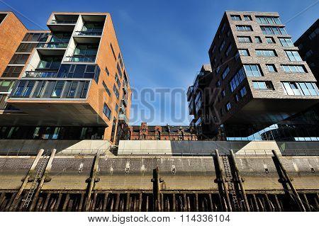 Modern Architecture At Traditionsschiffhafen At Sandtorhafen, Ha