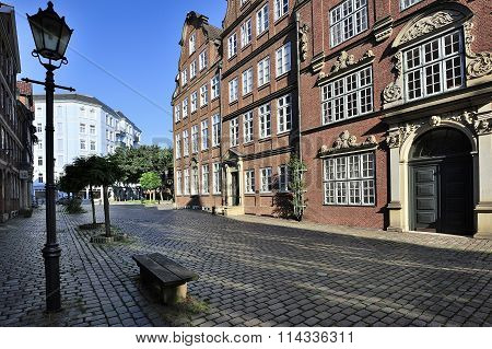 Houses From 1600-1780, Peterstrasse Street, Hamburg, Germany