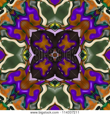 Floral decorative oriental arabic fractal decorative seamless pattern