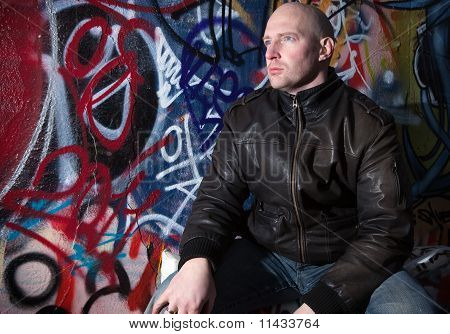 Man Graffiti Urban Attitude