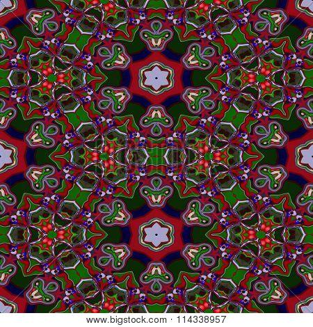Floral decorative oriental arabian fractal decorative seamless pattern