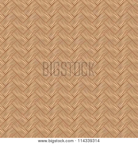Seamless Pattern Wicker Cherry Wood Color.