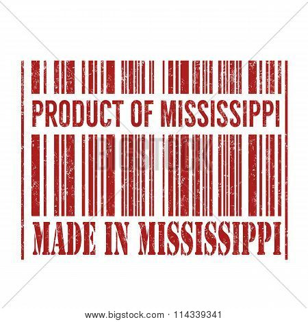Product Of Mississippi, Made In Mississippi Barcode