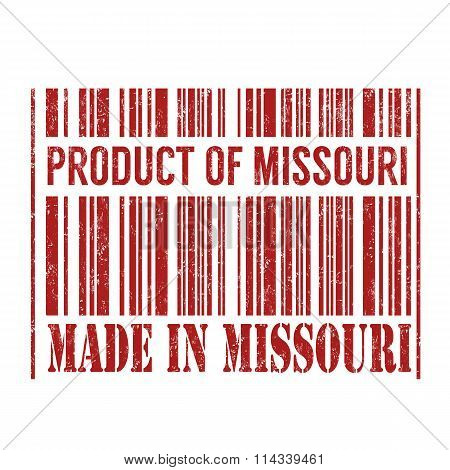 Product Of Missouri, Made In Missouri Barcode