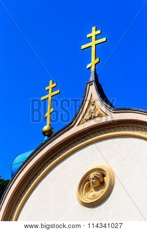Russian church in spa town Bad Ems, Germany