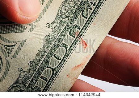Blood Spot On Dollar