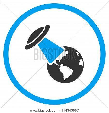 Ufo Explores Earth Icon