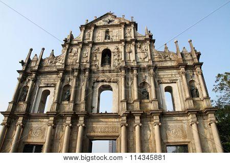 Ruins Of Saint Paul's Cathedral in Macau