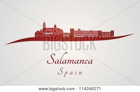 Salamanca Skyline In Red
