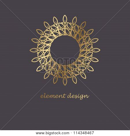 Golden Design Element.