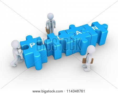 Puzzle Pieces And Business Plan