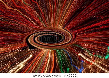 Black Hole Vortex In Space