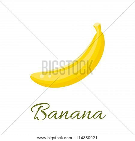 Banana vector icon.