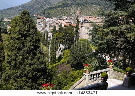 View Of Tivoli (near Rome ) From The Villa D`este, Italy