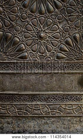 Ornaments Of The Bronze-plate Door Of Sultan Al-zahir Barquq Mosque