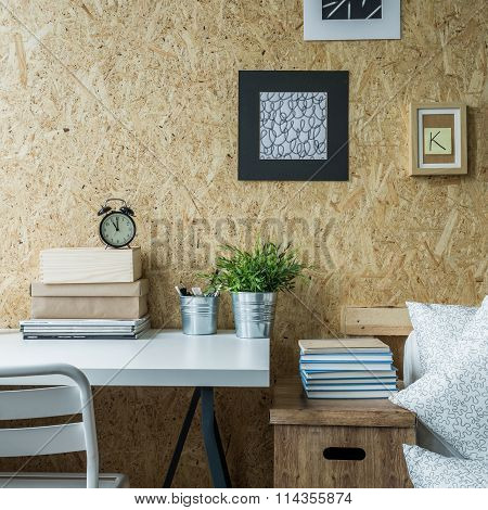 Wooden Wall In Designed Room
