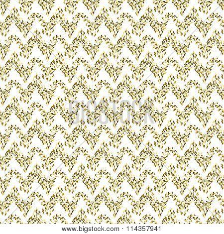Golden mosaic abstract seamless pattern.