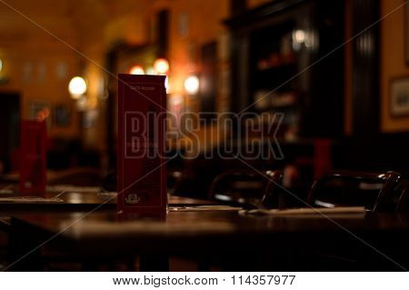 Café Rouge drinks menu