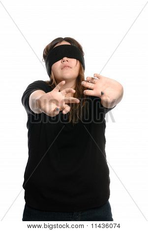 Blindfolded Teen