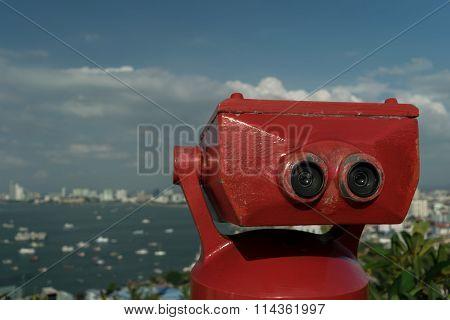 stationary observation binoculars