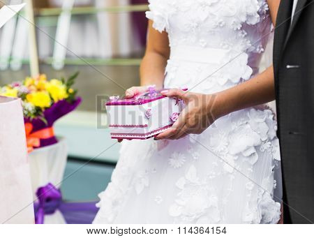 Bride Holding Gift