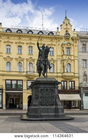 Monument Ban Jelacic In Zagreb
