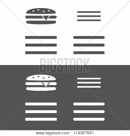 Hamburger menu UI icon.
