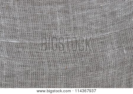 Rough linen cloth close-up