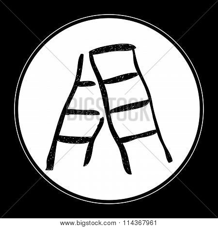 Simple Doodle Of A Step Ladder