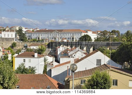 Aqueduct And Buildings Of Coimbra