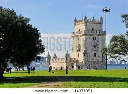 Belem Tower And City Park, Lisbon