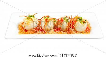 Savoury glutinous dumpling stuffed with mung bean, pork,, shrimp