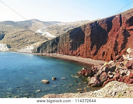 red beach Santorini Greece