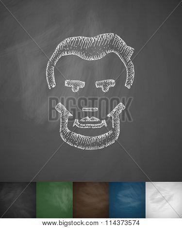 Lincoln icon. Hand drawn vector illustration