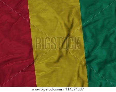 Close Up Of Ruffled Guinea Flag