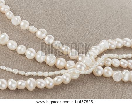 Pearl Beads On Velvet