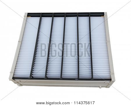 Furnace and air conditioner filter isolated on white background