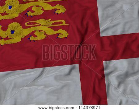 Close Up Of Ruffled Sark Flag