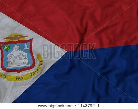 Close Up Of Ruffled Slovenia Flag