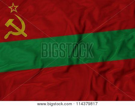 Close Up Of Ruffled Transnistria Flag