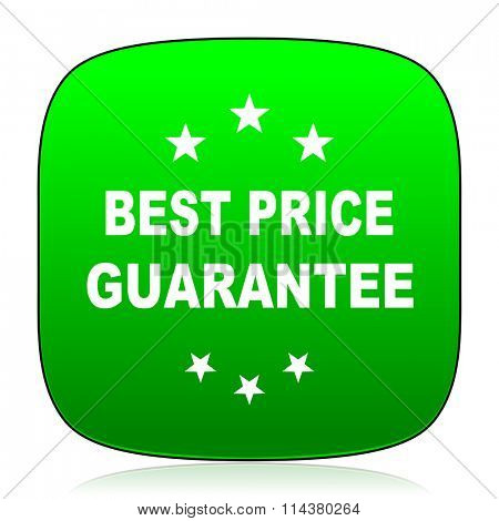 best price guarantee green icon for web and mobile app