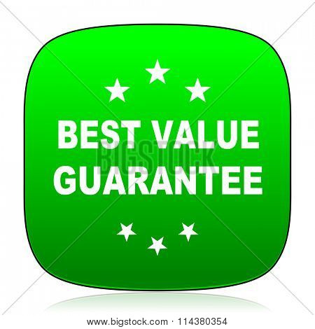 best value guarantee green icon for web and mobile app